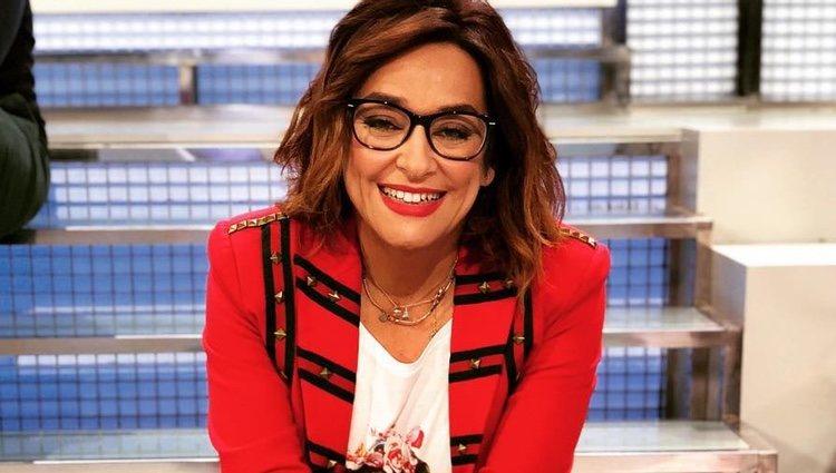 Toñi Moreno presentando el programa 'Mujeres y hombres y viceversa