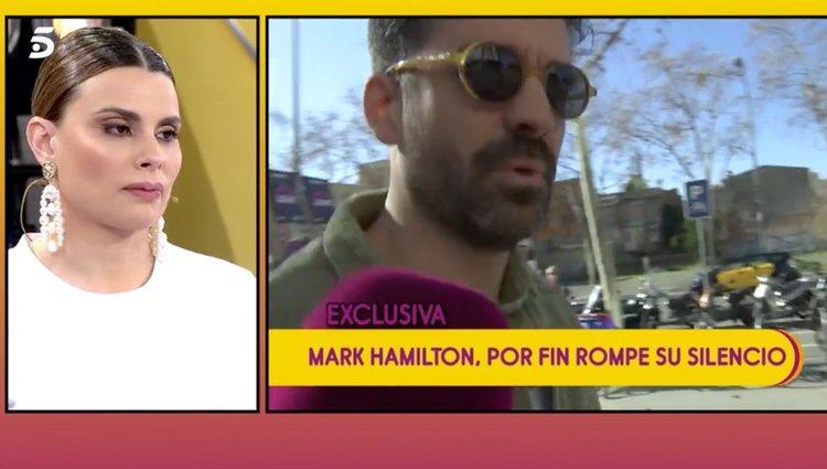 Mark Hamilton dando su opinión sobre María Lapiedra y Gustavo González