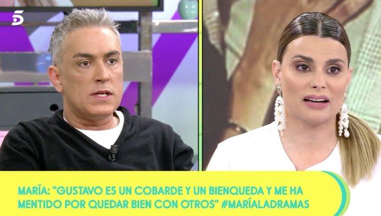 María Lapiedra dando la opnión de Gustavo González sobre sus compañeros en 'Sálvame'