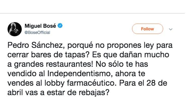 Tweet Miguel Bosé