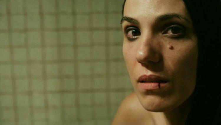 Laia Alemany en un fotograba de un corto