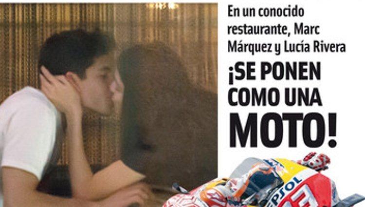 Marc Márquez y la modelo en una cita romántica   Foto: Cuore