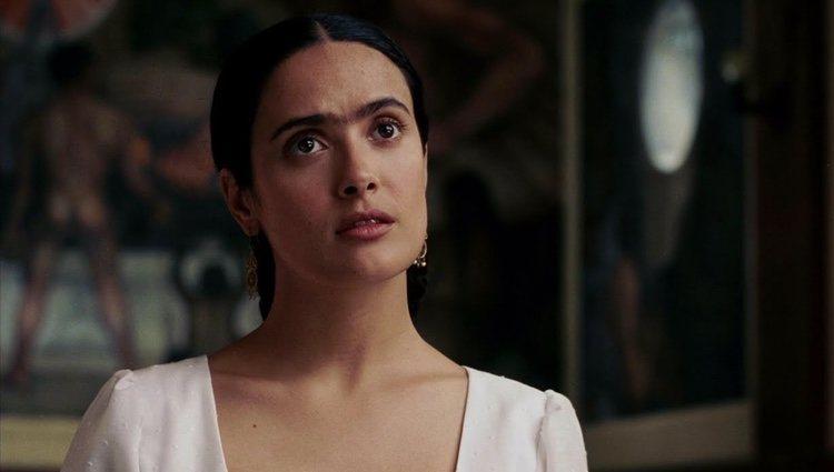 Salma Hayek dando vida a Frida