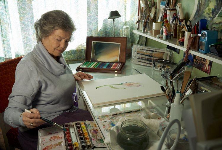 La Princesa Ana de Orleans pintando en su estudio | annedorleans.com