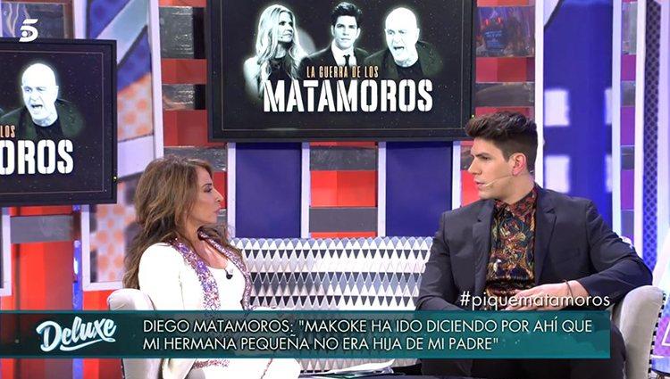 Diego Matamoros en 'Sábado Deluxe'/ Foto: Telecinco.es