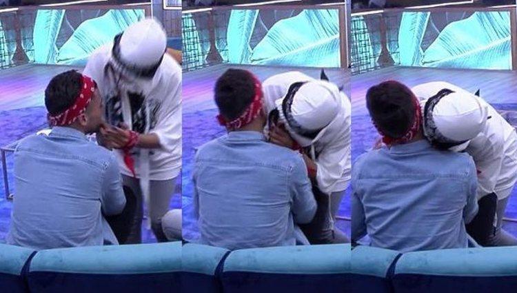 El momento del beso | Foto: Telecinco.es