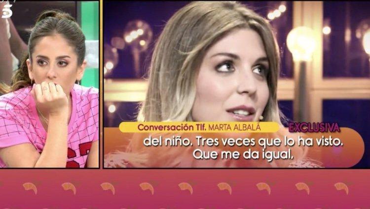 Marta Albalá da su opinión sobre su padre en 'Sálvame'
