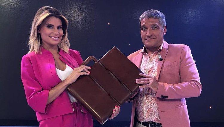 María Lapiedra y Gustavo Gonzalez en uno de los programas de 'Sálvame'
