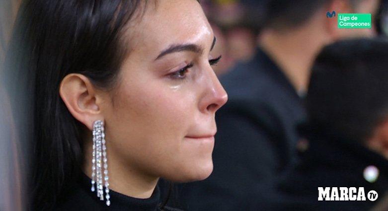 Georgina Rodríguez, emocionada por Cristiano Ronaldo/ Foto: Marca y Movistar
