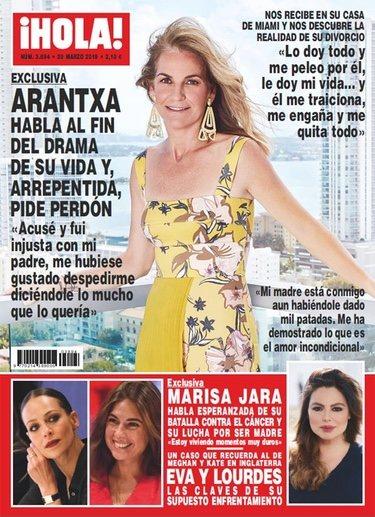 Arantxa Sánchez Vicario en la portada de ¡Hola!