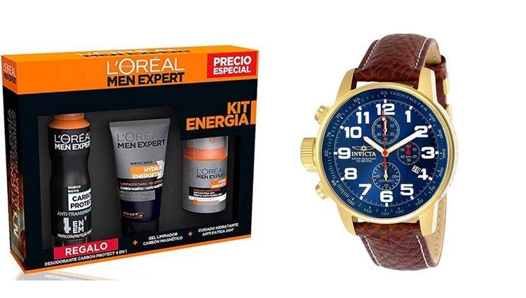 Set de cremas y reloj de pulsera