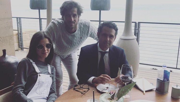 Feliciano López y Sandra Gago en uno de los mejores restaurantes de California/ Foto: Instagram