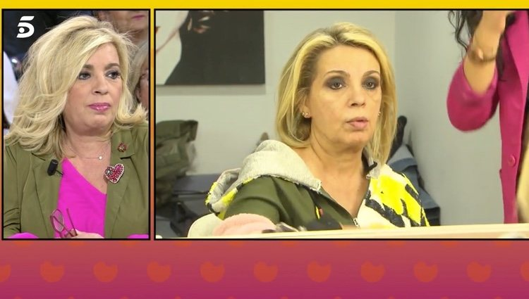 Carmen Borrego maquillada para su reto semanal | Foto: telecinco.es