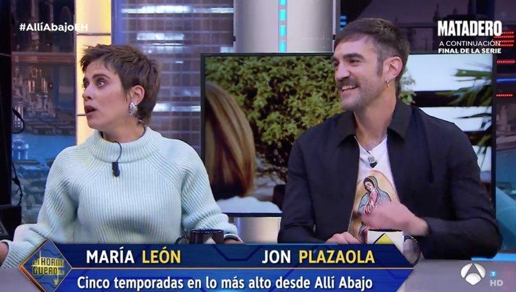 María León y Jon Plazaola en 'El Hormiguero' | Foto: Antena3.com