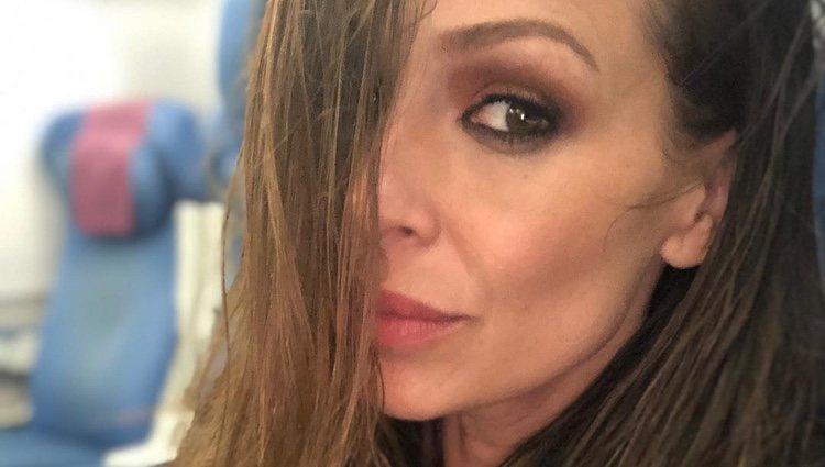 Eva González con el pelo grasiento/ Foto: Instagram