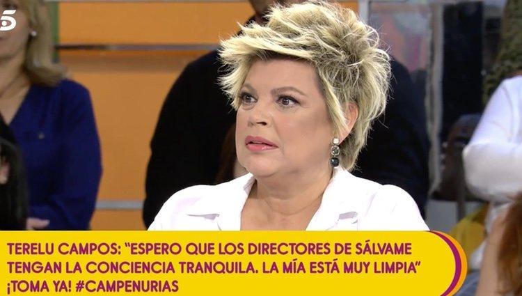 Terelu Campos hablando del tema | Foto: telecinco.es