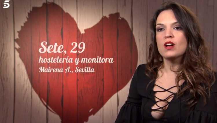 Setefilla en 'First Dates'/foto:telecinco.es