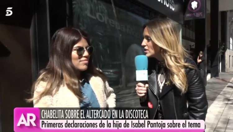 Chabelita hablando para 'El Programa de Ana Rosa'/foto:telecinco.es
