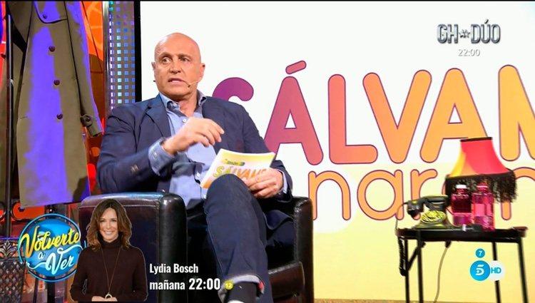 Matamoros en 'Sálvame' hablando de su ruptura/ Foto: telecinco.es