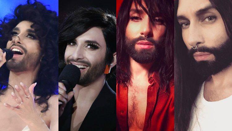 Algunos de los cambios de look que ha experimentado Conchita Wurst