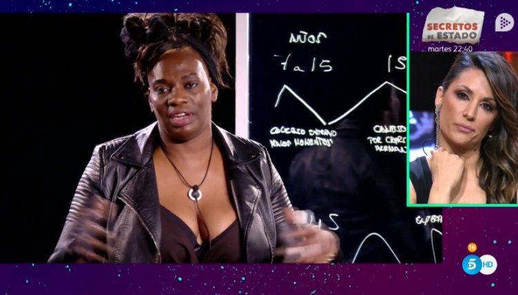 Nagore observa el momento en el que Carolina habló de ella en la 'curva de la vida' | telecinco.es