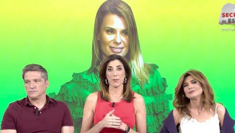 Paz Padilla, Gema López y Gustavo Gonzalez en el programa 'Sálvame'