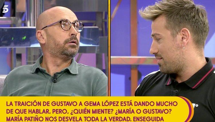 Rafa Mora y Diego Arrabal en el programa 'Sálvame'