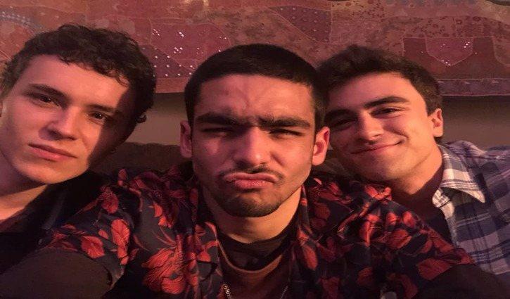 Aron Piper, Omar Ayuso e Itzan Escamilla/ Instagram