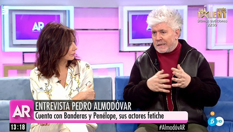Almodóvar en 'El Programa de Ana Rosa'/ Foto: Telecinco.es