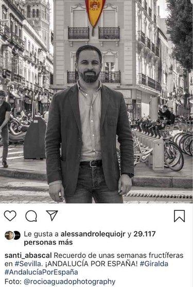 Una de las imágenes De Santiago Abascal a la que Álex Lequio ha dado like en Instagram