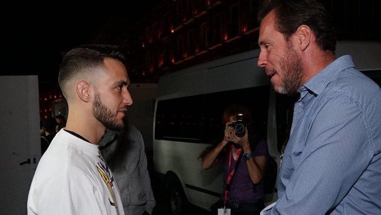 C.Tangana y Oscar Puente antes del concierto en Valladolid l Twitter