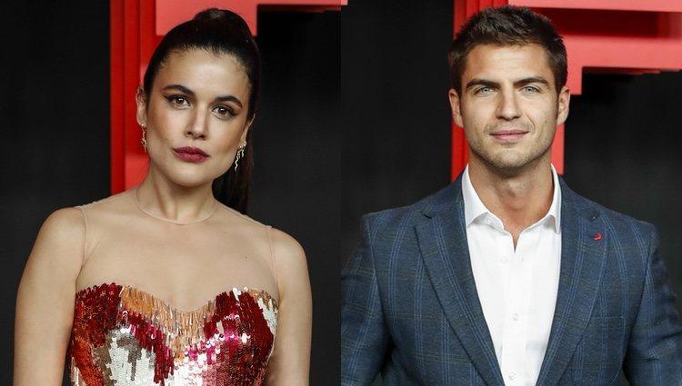 Adriana Ugarte y Maxi Iglesias en la presentación de Netflix