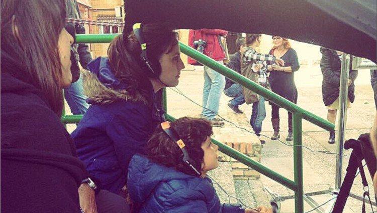 Natalia de Molina durante el rodaje de 'Techo y comida'/Foto:Instagram