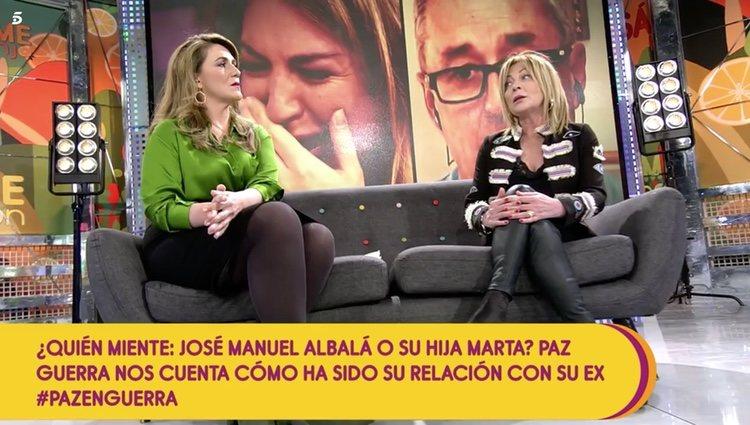 Paz Guerra en el plató de 'Sálvame' | Foto: Telecinco.es