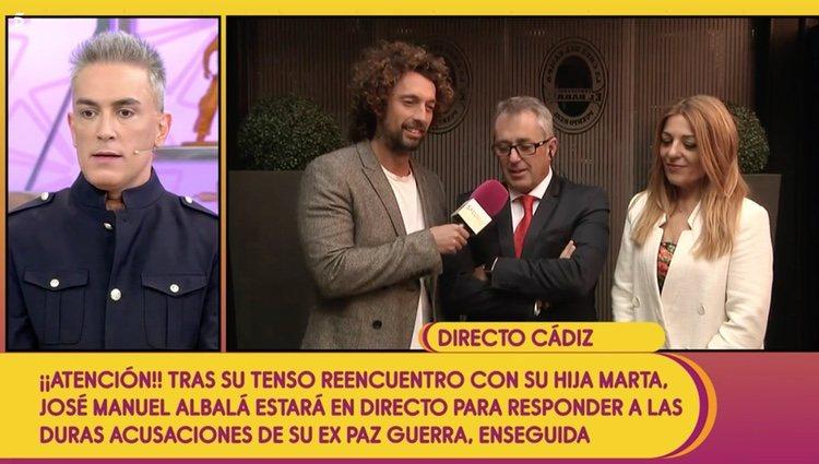 José Manuel Albalá junto a su mujer Joana en 'Sálvame' | Foto: Telecinco.es