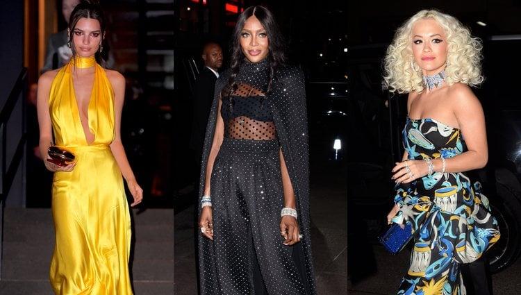 Emily Ratajkowski, Naomi Campbell y Rita Ora a su llegada a la boda