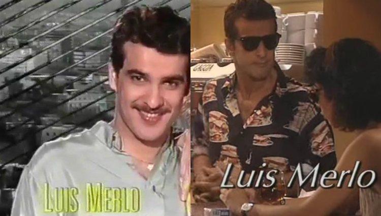 Luis Merlo en las cabeceras de 'Vecinos' y 'Canguros', dos series de Antena 3 emitidas en 1994