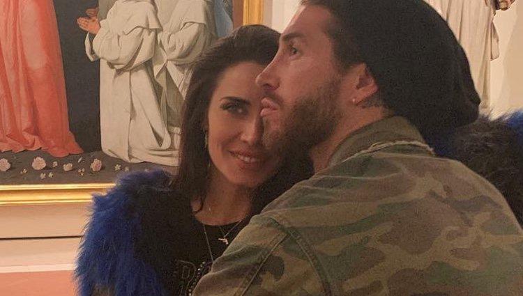 Sergio Ramos y Pilar Rubio en el Museo de Bellas Artes de Sevilla/ Foto: Instagram