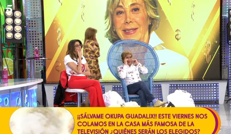 Chelo García Cortés junto a Paz Padilla y Belén Esteban en 'Sálvame'