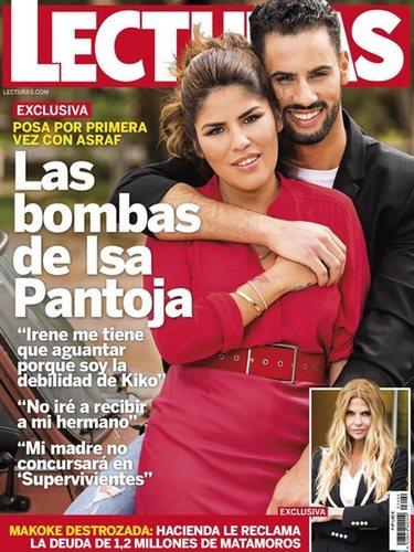 Chabelita Pantoja y Asraf Beno en la portada de la revista