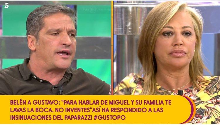 Belén Esteban y Gustavo González en 'Sálvame'   Foto: Telecinco.es