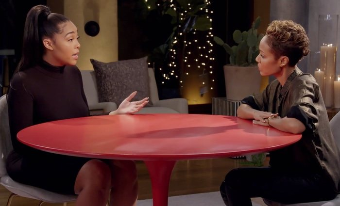 Jordyn Woods en 'Red Table Talks' hablando del escándalo con Tristan Thompson