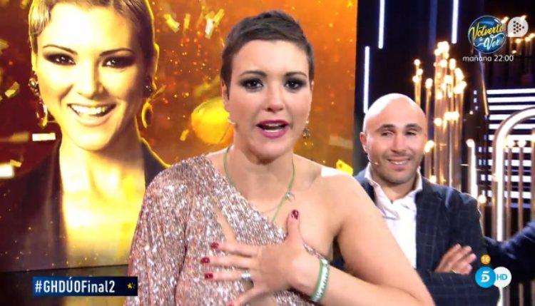 María Jesús da las gracias tras proclamarse ganadora de 'GH DÚO'