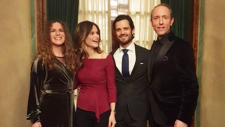 Sofía Hellqvist, Carlos Felipe de Suecia, Alexandrov Klum y Tack Mattias