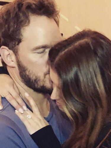 La imagen con la que Chris Pratt y Katherine Schwarzenegger anunciaron su compromiso l Instagram