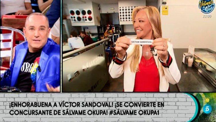 Belén Esteban desvelando el nombre de Víctor Sandoval l Telecinco.es
