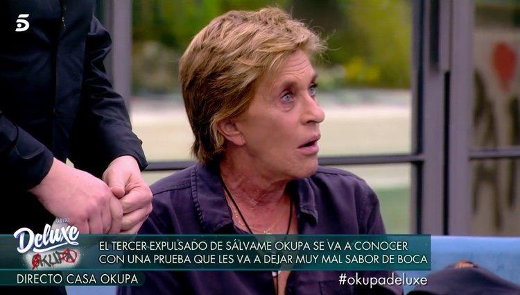 Chelo García Cortés alucina al saber que tiene que salir de 'Sálvame okupa' / Telecinco.es