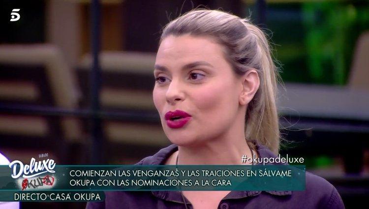 María Lapiedra durante las nominaciones / Telecinco.es