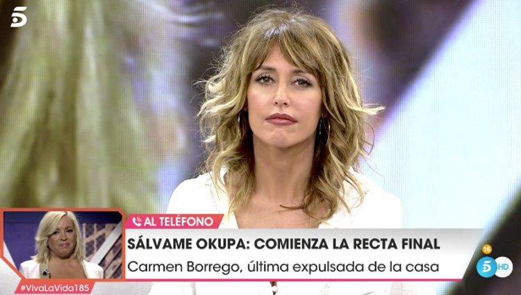 Carmen Borrego hablando con 'Viva la vida' tras su expulsión / Telecinco.es