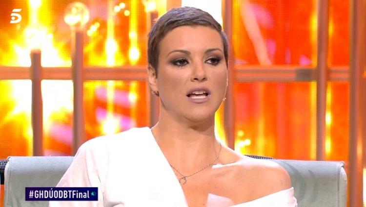 María Jesús Ruiz dando sus explicaciones / Telecinco.es